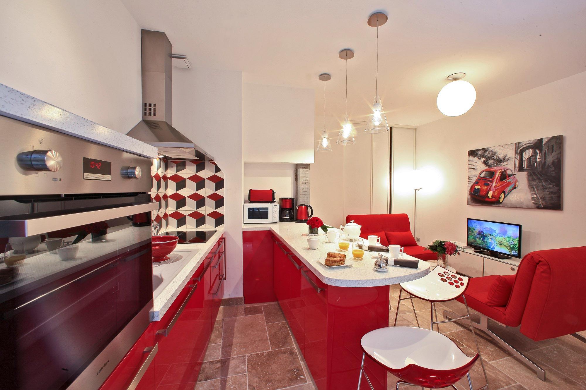 La cuisine de la location saisonnière Les Colettines
